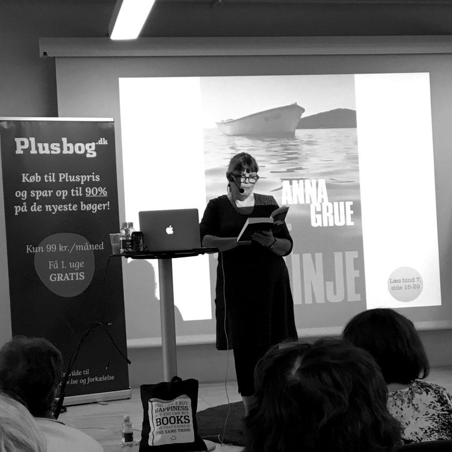 Forfatterforedrag med AnnaGrue